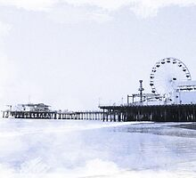 Cyanotype Santa Monica Pier by stine1