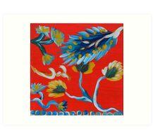 Asian Inspired Pattern 1 Art Print