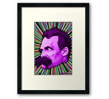 Nietzsche Burst 2 - by Rev. Shakes Framed Print