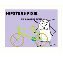 Hipster fixie Art Print