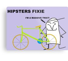 Hipster fixie Metal Print