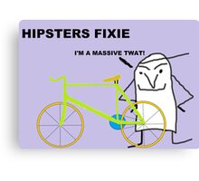 Hipster fixie Canvas Print