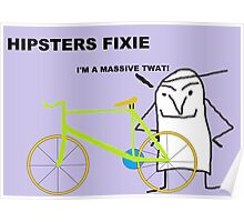 Hipster fixie Poster