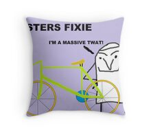 Hipster fixie Throw Pillow