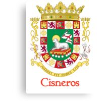 Cisneros Shield of Puerto Rico Canvas Print