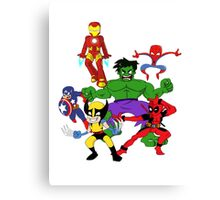 super hero mayhem Canvas Print