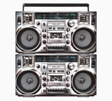 Two Retro Boomboxes Baby Tee