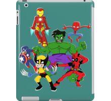 super hero mayhem iPad Case/Skin