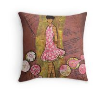 Paper Doll 1 Throw Pillow