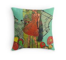 Paper Doll 2 Throw Pillow