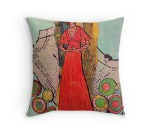 Paper Doll 3 Throw Pillow