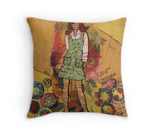 Paper Doll 4 Throw Pillow