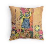Paper Doll 5 Throw Pillow
