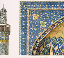 Architectural Details from the Mesdjid-i-Shah, Isfahan by Bridgeman Art Library