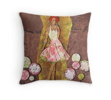 Paper Doll 6 Throw Pillow
