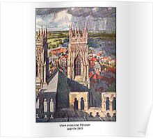 York from the Minster Poster