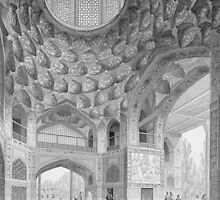 Pavilion of the Eight Paradises, in Isfahan by Bridgeman Art Library