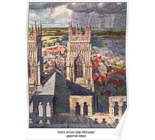 Views of York from the Minster Poster