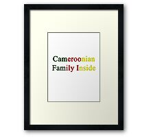 Cameroonian Family Inside  Framed Print