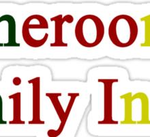 Cameroonian Family Inside  Sticker
