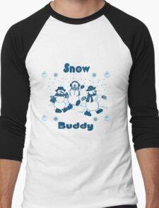 Snow Buddy like a Snowman Men's Baseball ¾ T-Shirt