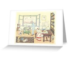 Babar The Elephant and Scientist Greeting Card