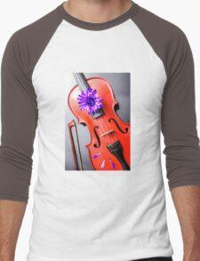 Artistic Violin Men's Baseball ¾ T-Shirt