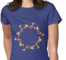 Sock Monkey Water Ballet Womens Fitted T-Shirt