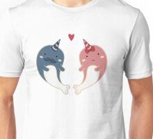 Cute Narwal Couple Unisex T-Shirt
