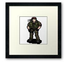 Solid Snaking Metal Gear Framed Print