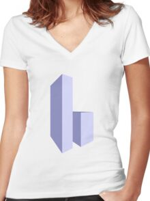 Skyscrapers Women's Fitted V-Neck T-Shirt