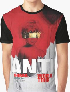 Rihanna Travis Scott Anti World Tour 2016 AM3 Graphic T-Shirt