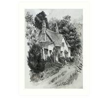 Devon cottage. Art Print