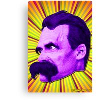 Nietzsche Burst 4 - by Rev. Shakes Canvas Print