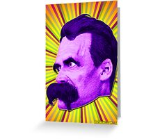 Nietzsche Burst 4 - by Rev. Shakes Greeting Card