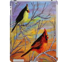 Birds on the birch tree iPad Case/Skin