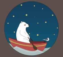 Polar bear and Bird on a boat  Kids Clothes