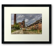 Textile Mill, abandoned Framed Print