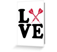 Darts love Greeting Card