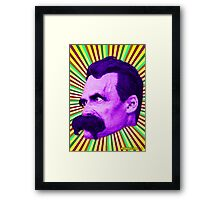 Nietzsche Burst 5 - by Rev. Shakes Framed Print