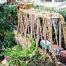 Model Bridge, Model Trains, Model Buildings, New York Botanical Garden Train Show, Bronx, New York by lenspiro