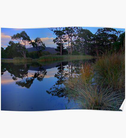 Captain Cook Creek HDR - Adventure Bay, Bruny Island, Tasmania Poster