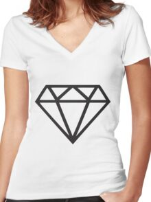 Black Diamond Women's Fitted V-Neck T-Shirt