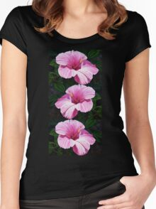 Pink Hibiscus  Women's Fitted Scoop T-Shirt