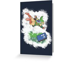 Freefalling Greeting Card