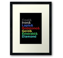 Name That Ore Framed Print