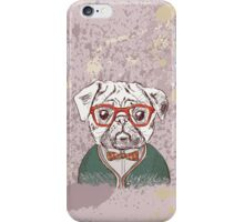 Hipster pug iPhone Case/Skin