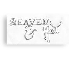 Heaven & Hell Canvas Print