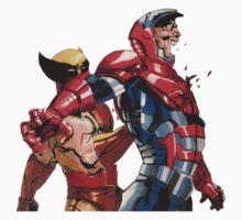 Daken Dark Wolverine and The Iron Patriot Norman Osborn T-Shirt
