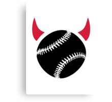 Baseball devil Canvas Print